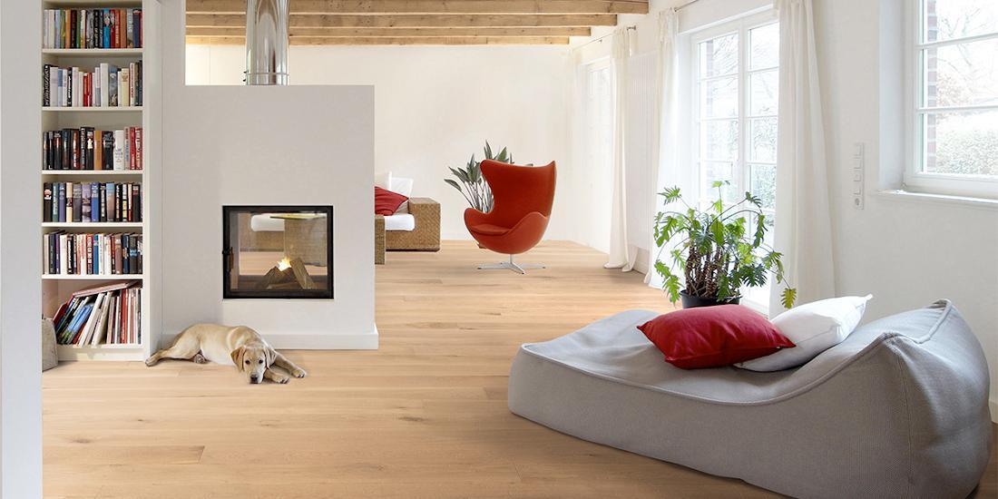 手工白橡木地板经可持续林业倡议认证. 照片由CRAFT Artisan木地板提供